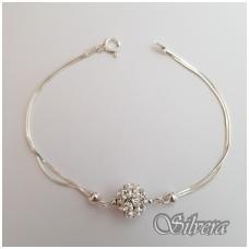 Sidabrinė apyrankė su swarovski kristalais AF40; 18 cm
