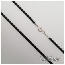 Sidabrinė grandinėlė su oda GO01; 40 cm