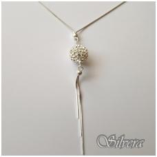 Sidabrinė grandinėlė su swarovski kristalais F40; 42 cm