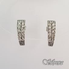 Sidabriniai auskarai su cirkoniai Au2351