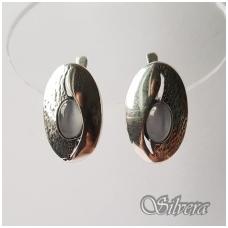 Sidabriniai auskarai su katės akies akmeniu Au1239