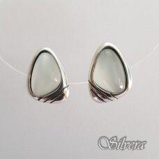 Sidabriniai auskarai su katės akies akmeniu Au2221