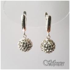 Sidabriniai auskarai su swarovski kristalais Au1136
