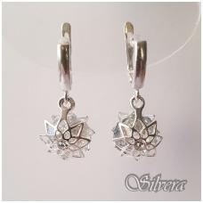 Sidabriniai auskarai su swarovski kristalais Au1232