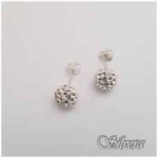 Sidabriniai auskarai su swarovski kristalais Au908