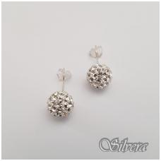 Sidabriniai auskarai su swarovski kristalais Au909