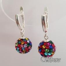 Sidabriniai auskarai su swarovski kristalais Au1326