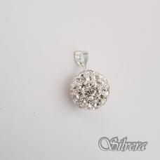Sidabrinis pakabukas su swarovski kristalais P162