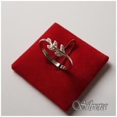 Sidabrinis žiedas su cirkoniais Z089; 19 mm