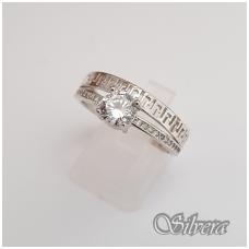 Sidabrinis žiedas su cirkoniais Z104; 17 mm