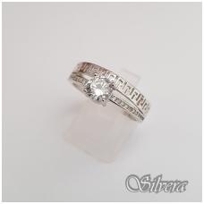 Sidabrinis žiedas su cirkoniais Z104; 20 mm
