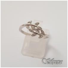 Sidabrinis žiedas su cirkoniais Z119; 17 mm