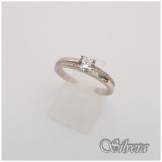 Sidabrinis žiedas su cirkoniais Z133; 20 mm