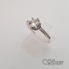 Sidabrinis žiedas su cirkoniais Z146; 18,5 mm