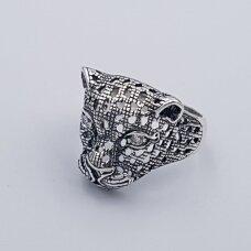 Sidabrinis žiedas su cirkoniais Z208; 22 mm