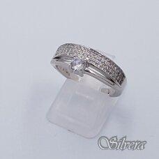 Sidabrinis žiedas su cirkoniais Z229; 17 mm