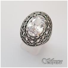 Sidabrinis žiedas su cirkoniu Z087; 19,5 mm