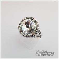 Sidabrinis žiedas su cirkoniu Z1089; 19,5 mm