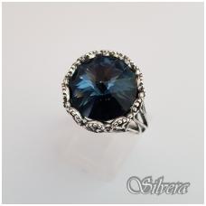 Sidabrinis žiedas su cirkoniu Z1090; 19,5 mm
