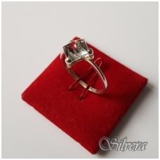 Sidabrinis žiedas su cirkoniu Z1107; 17,5 mm