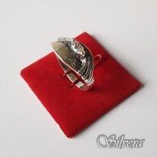 Sidabrinis žiedas su cirkoniu Z1147; 18 mm