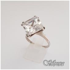 Sidabrinis žiedas su cirkoniu Z114; 18,5 mm