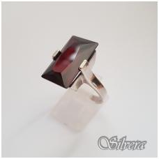 Sidabrinis žiedas su cirkoniu Z124; 18,5 mm