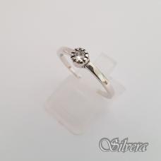 Sidabrinis žiedas su cirkoniu Z148; 19 mm