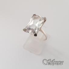 Sidabrinis žiedas su cirkoniu Z158; 17 mm