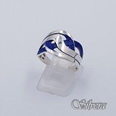 Sidabrinis žiedas su emaliu Z1491; 19,5 mm