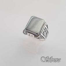 Sidabrinis žiedas su hematitu Z084; 21 mm