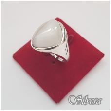 Sidabrinis žiedas su katės akies akmeniu Z1021; 18,5 mm