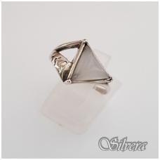 Sidabrinis žiedas su katės akies akmeniu Z1173; 18 mm