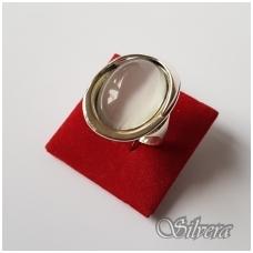 Sidabrinis žiedas su katės akies akmeniu Z38; 18,5 mm