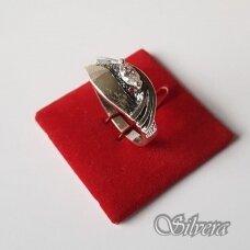 Sidabrinis žiedas su cirkoniu Z1147; 20 mm