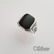 Sidabrinis žiedas su oniksu Z150; 22 mm