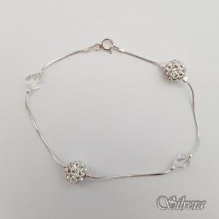 Sidabrinė apyrankė su swarovski kristalais AF58; 18 cm