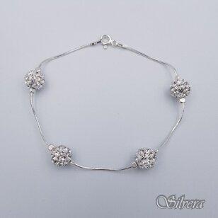 Sidabrinė apyrankė su swarovski kristalais AK88; 18 cm