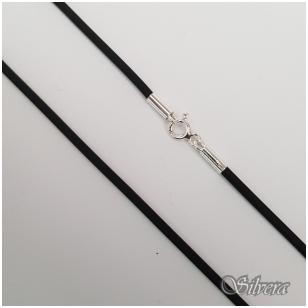 Sidabrinė grandinėlė su oda GO01; 50 cm
