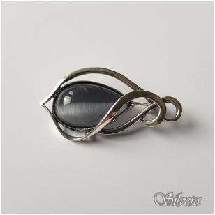 Sidabrinė segė su katės akies akmeniu S42