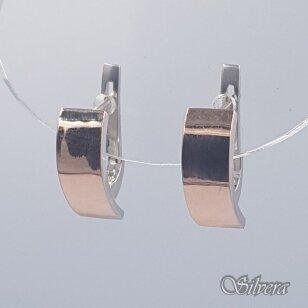 Sidabriniai auskarai su aukso detalėmis Au1484