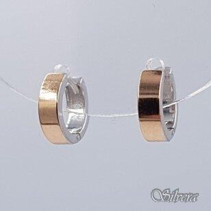 Sidabriniai auskarai su aukso detalėmis Au1485