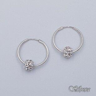 Sidabriniai auskarai su swakovski kristalais Au6152