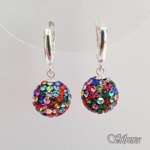 Sidabriniai auskarai su swarovski kristalais Au1367
