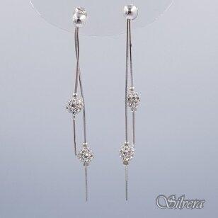 Sidabriniai auskarai su swarovski kristalais Au2252