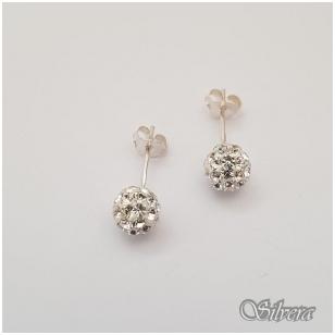 Sidabriniai auskarai su swarovski kristalais Au907