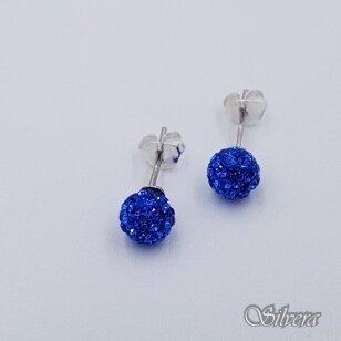 Sidabriniai auskarai su swarovski kristalais Au919