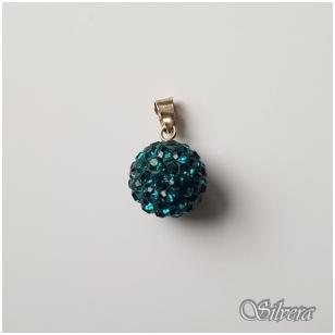 Sidabrinis pakabukas su swarovski kristalais P065