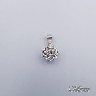 Sidabrinis pakabukas su swarovski kristalais P241