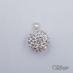 Sidabrinis pakabukas su swarovski kristalais P242